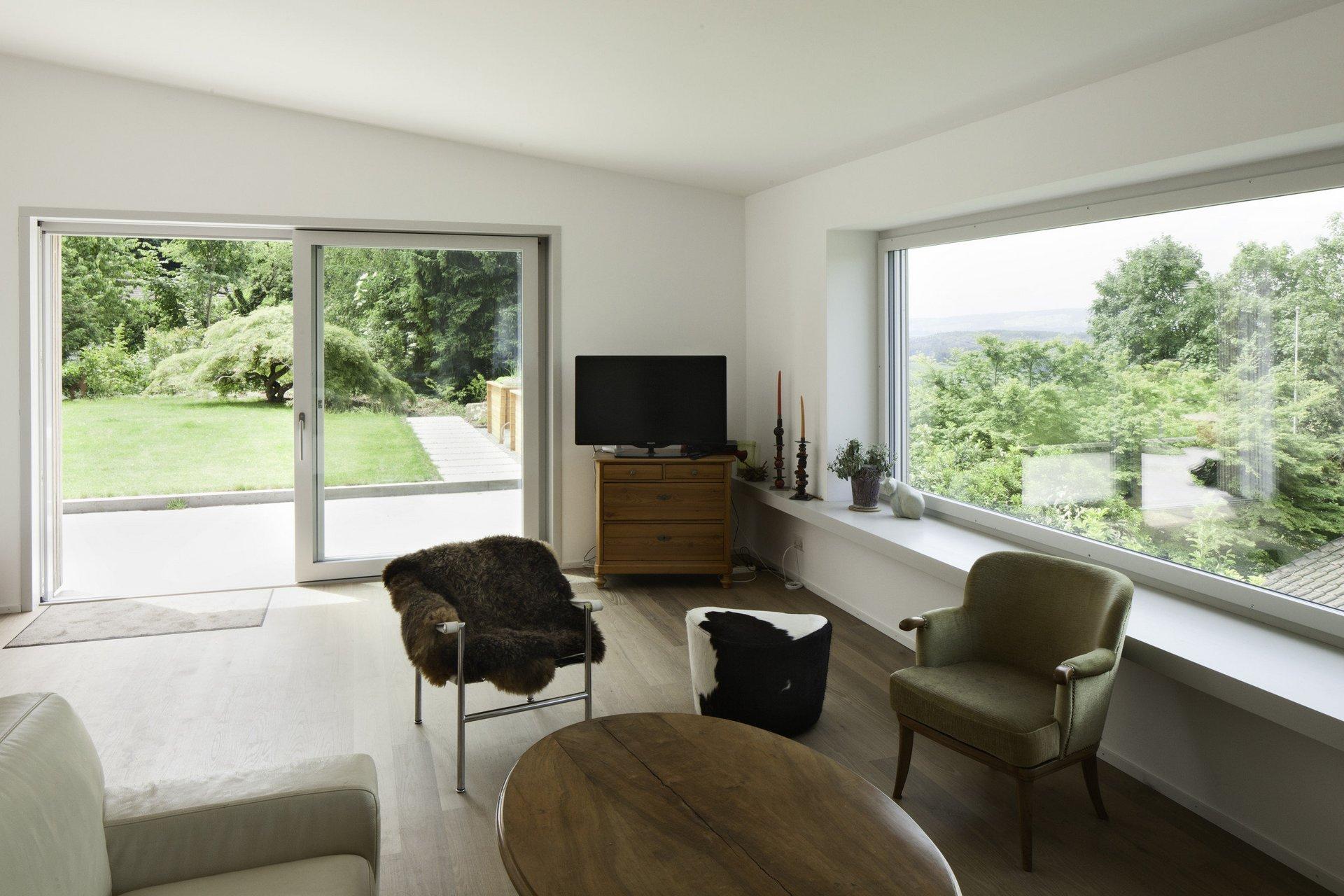 Hebe-Schiebetür + Einflügelfenster mit 3-fach Isolierverglasung innen