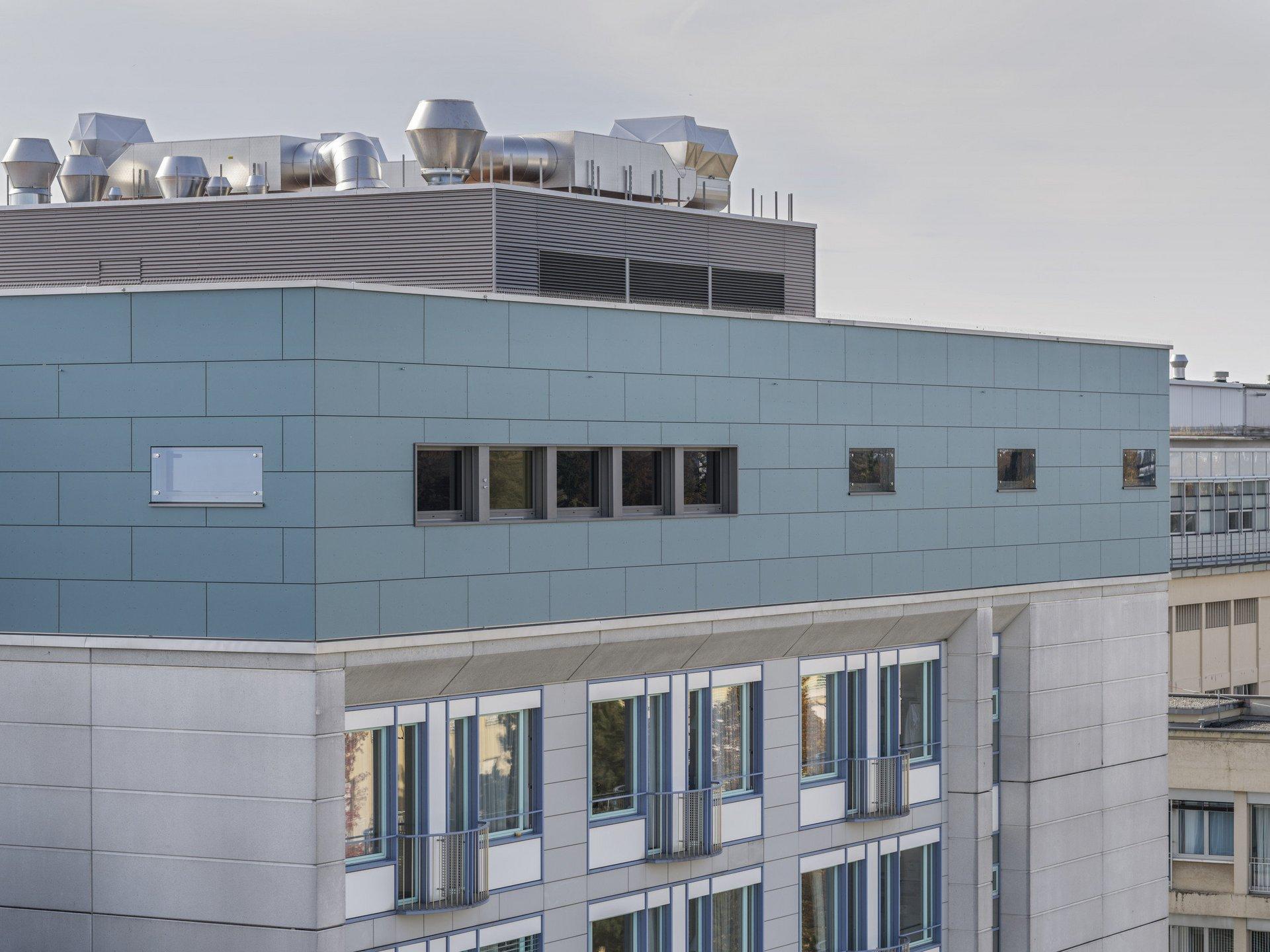 6-geschossiges Spitalgebäude in Holz- und Stahl-Leichtbauweise