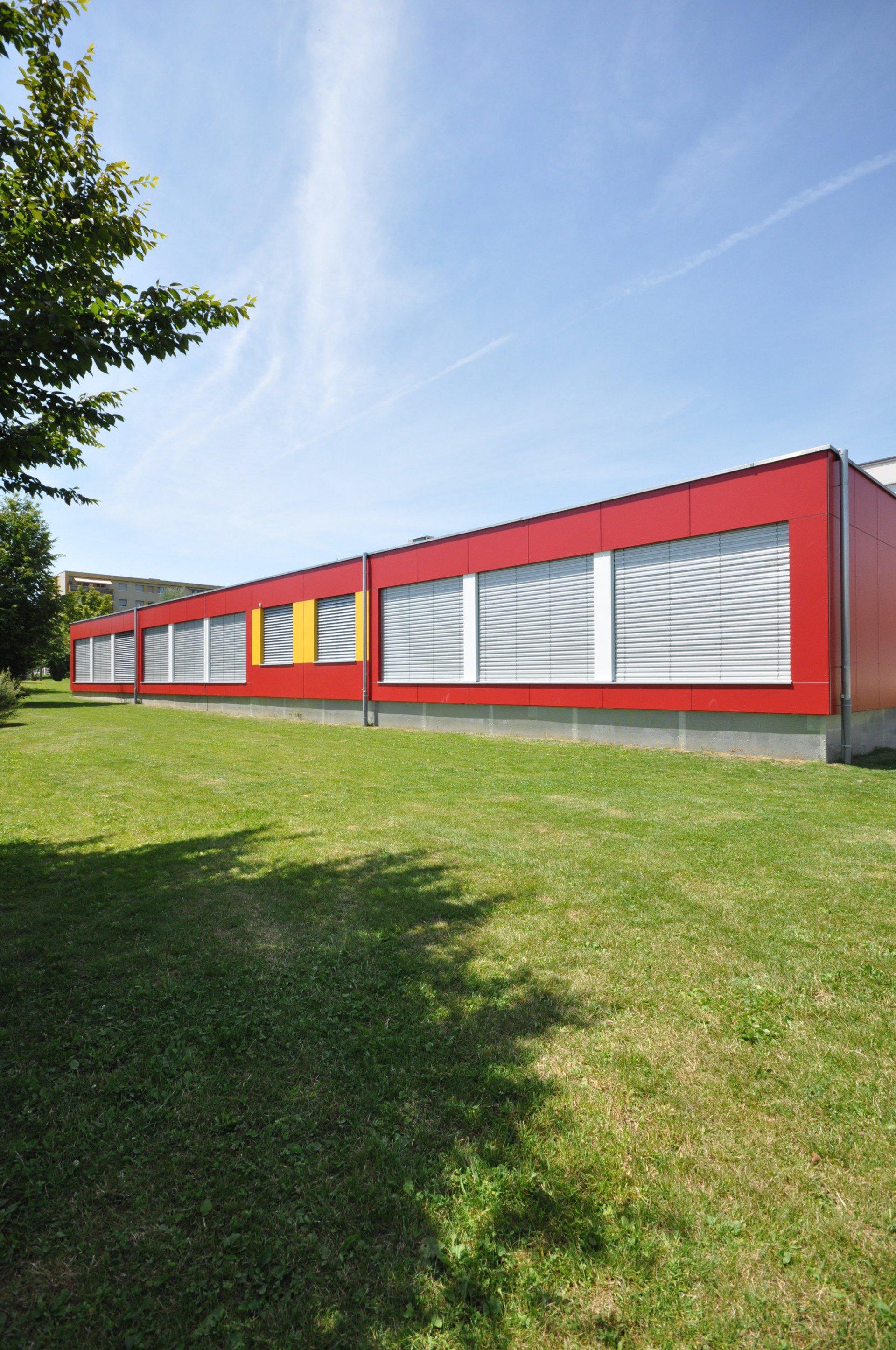 1-geschossiger Schulpavillon in Modulbauweise