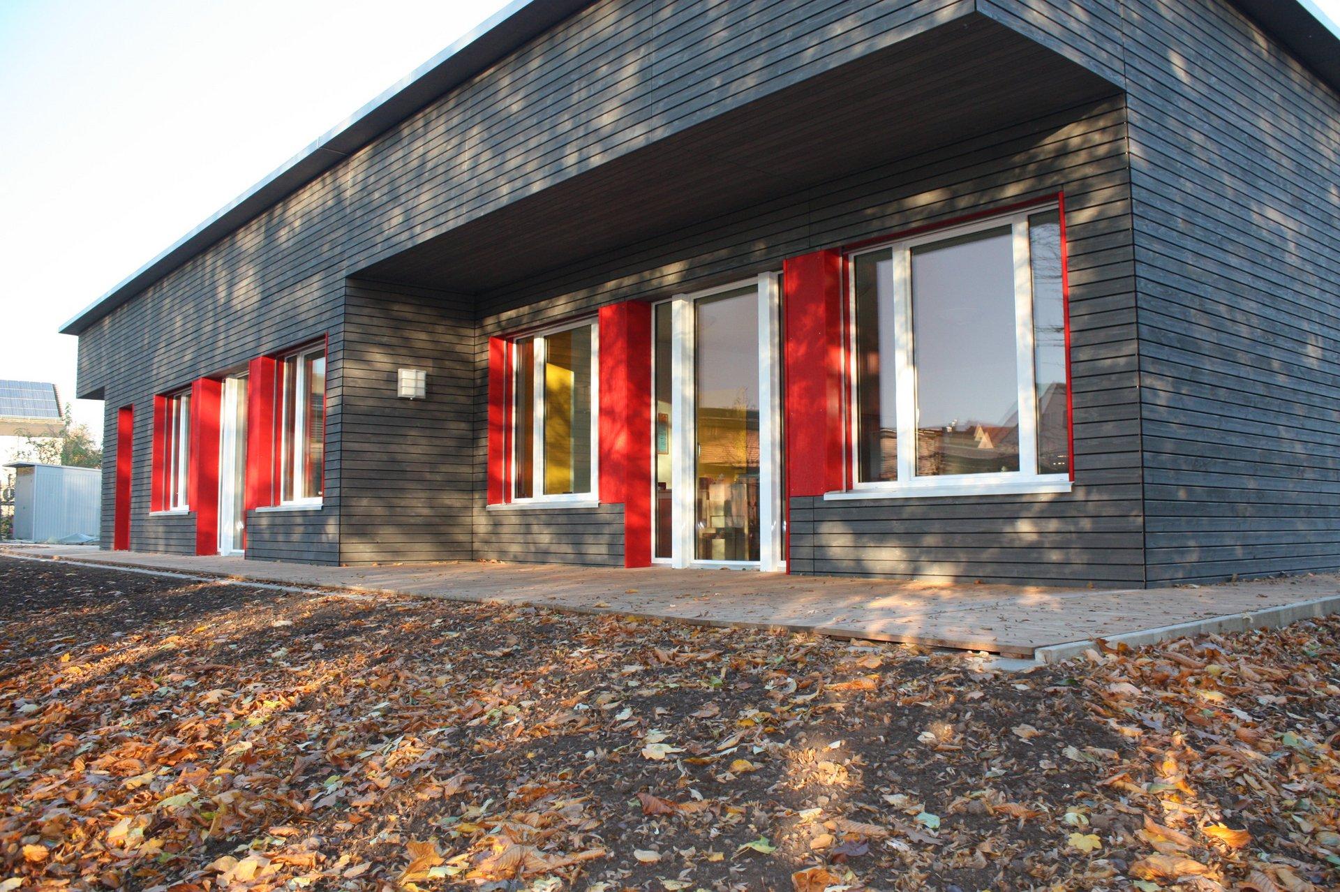 1-geschossige Kindertagesstätte in Modulbauweise