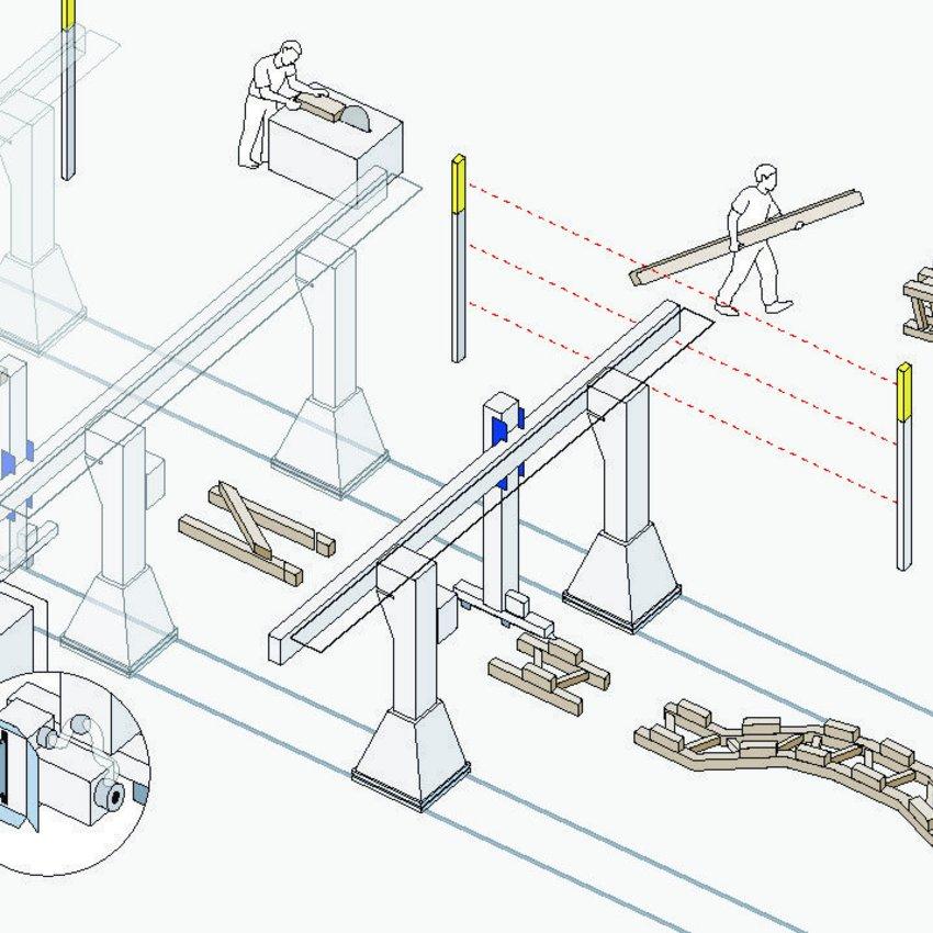 ERNE robot portique illustration