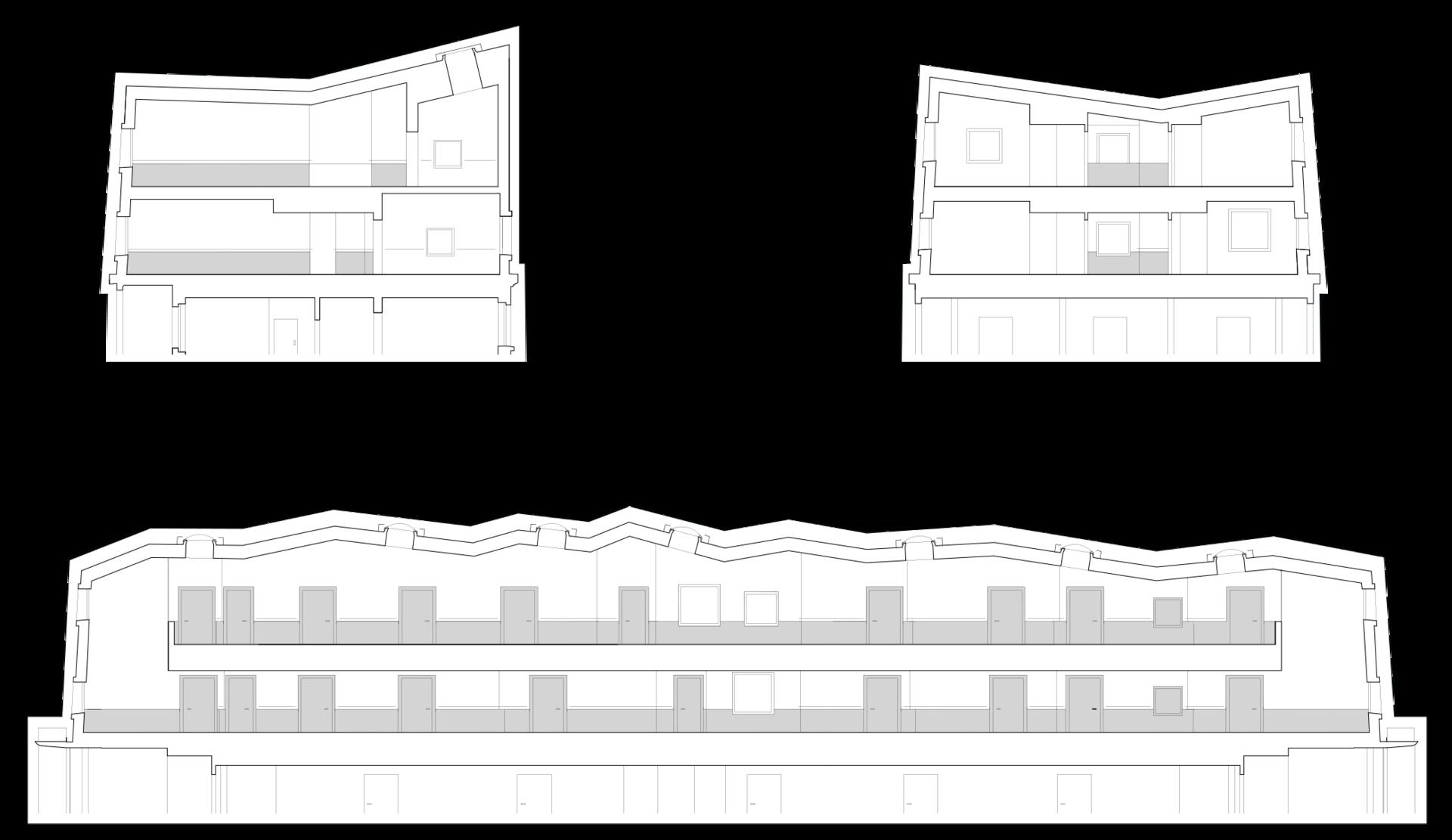 Plan d'une surélévation d'un hôpital