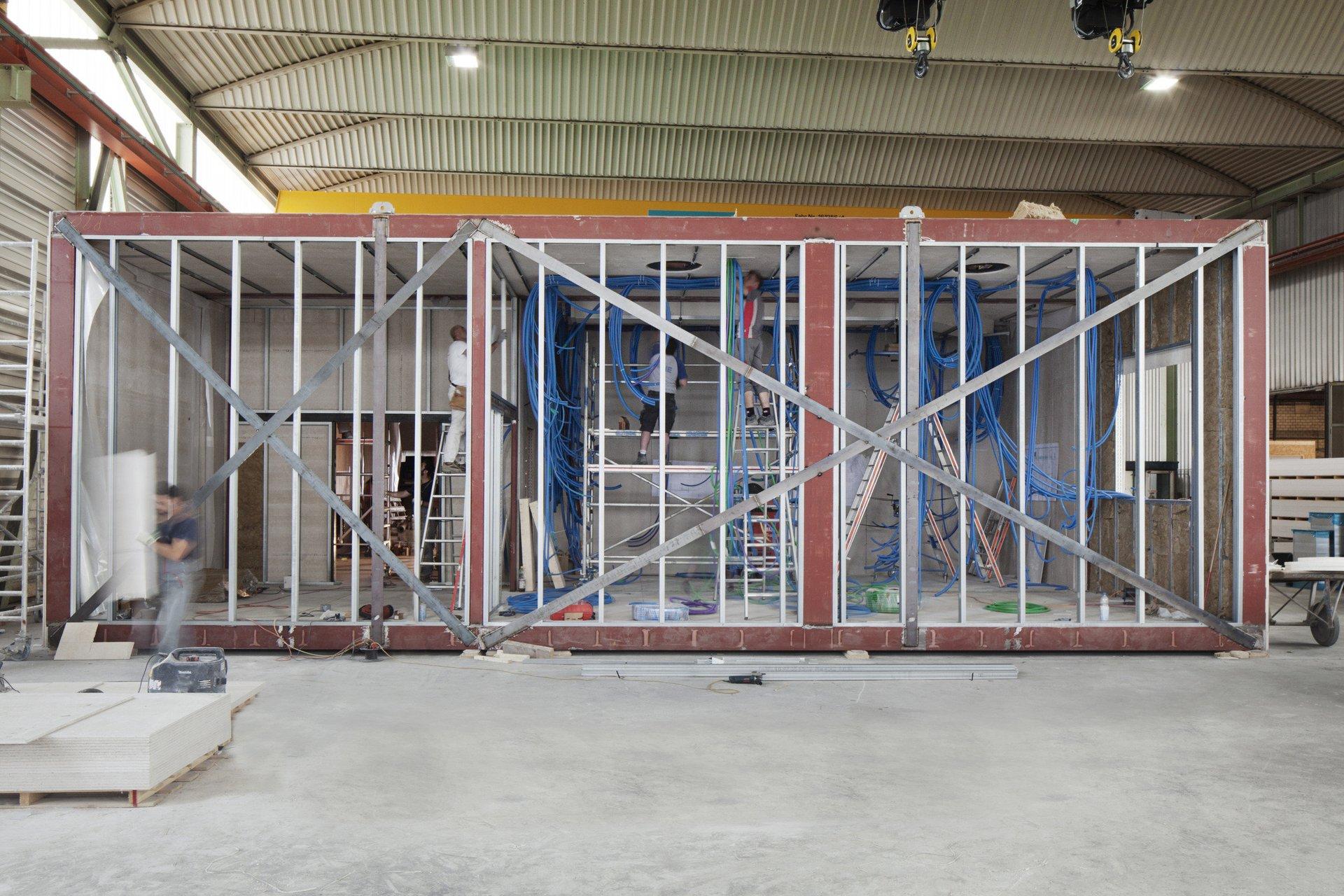 Operationssaal im Bau in Modulbauweise