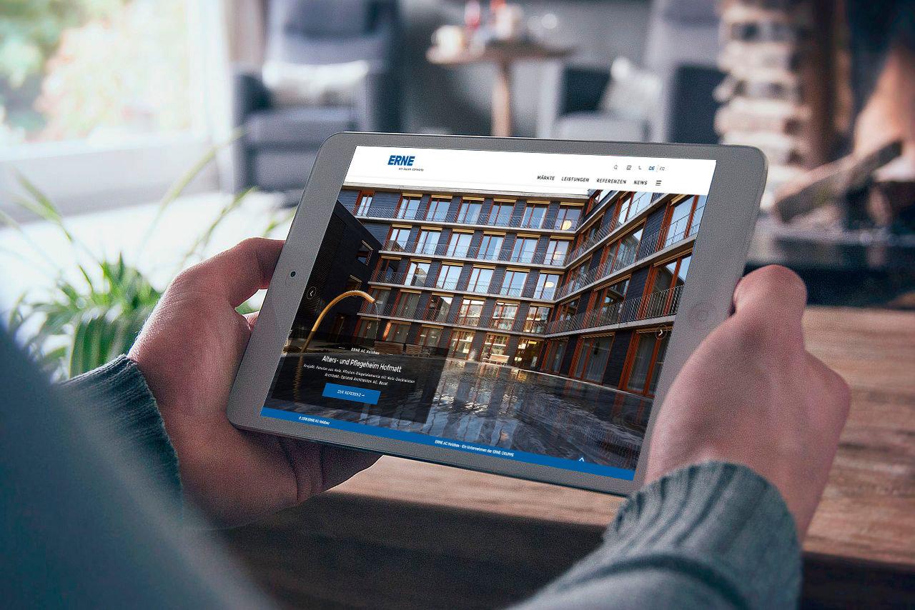 ERNE Holzbau Nouveau site Internet