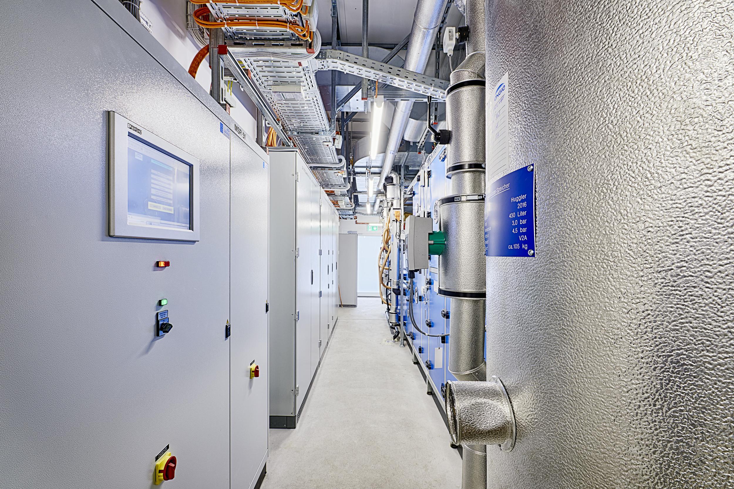Technikräume für Operationssaal in Stahl-Modulbauweise