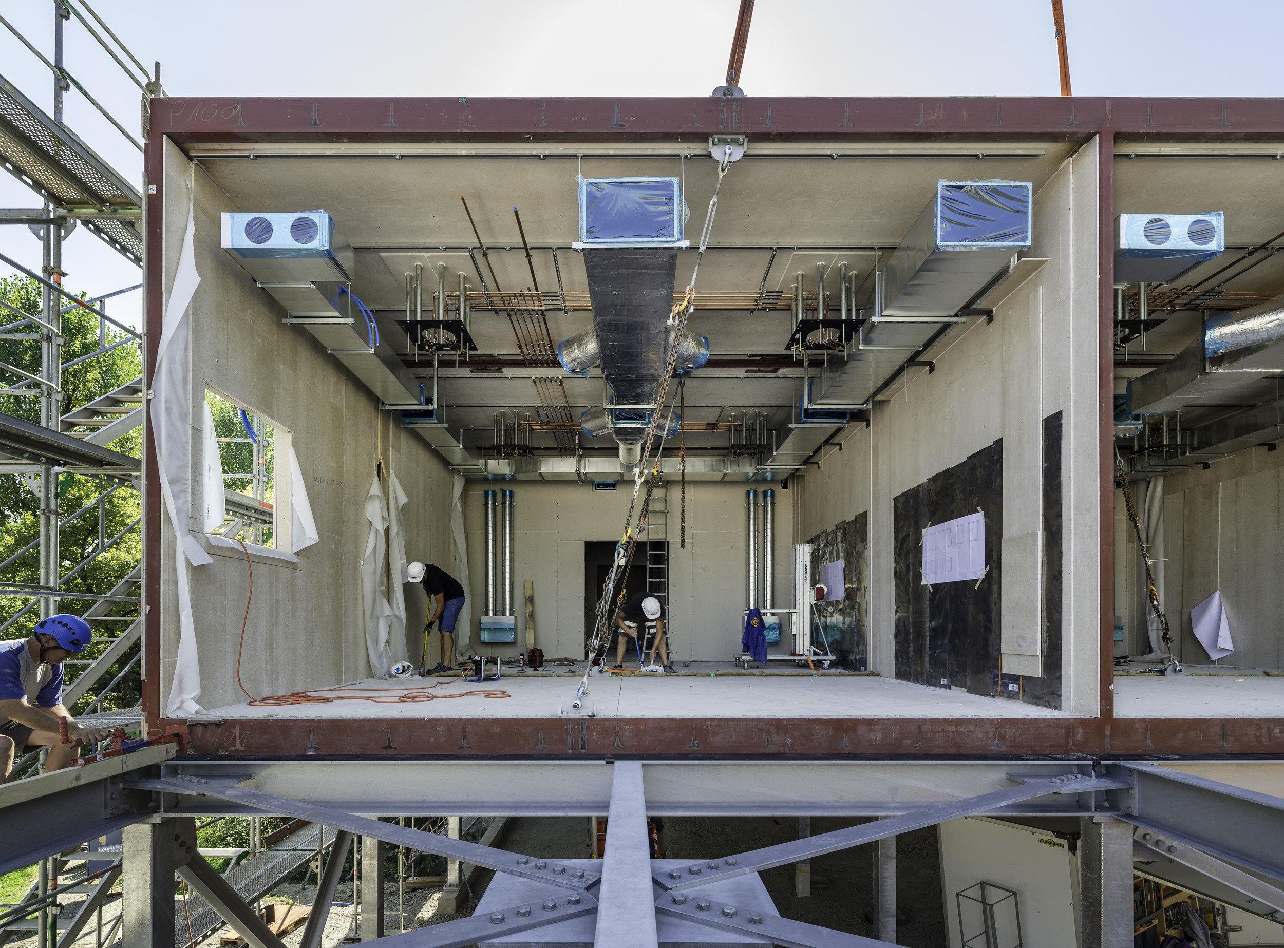 Fortgeschrittene Installation Operationssaal in Modulbauweise
