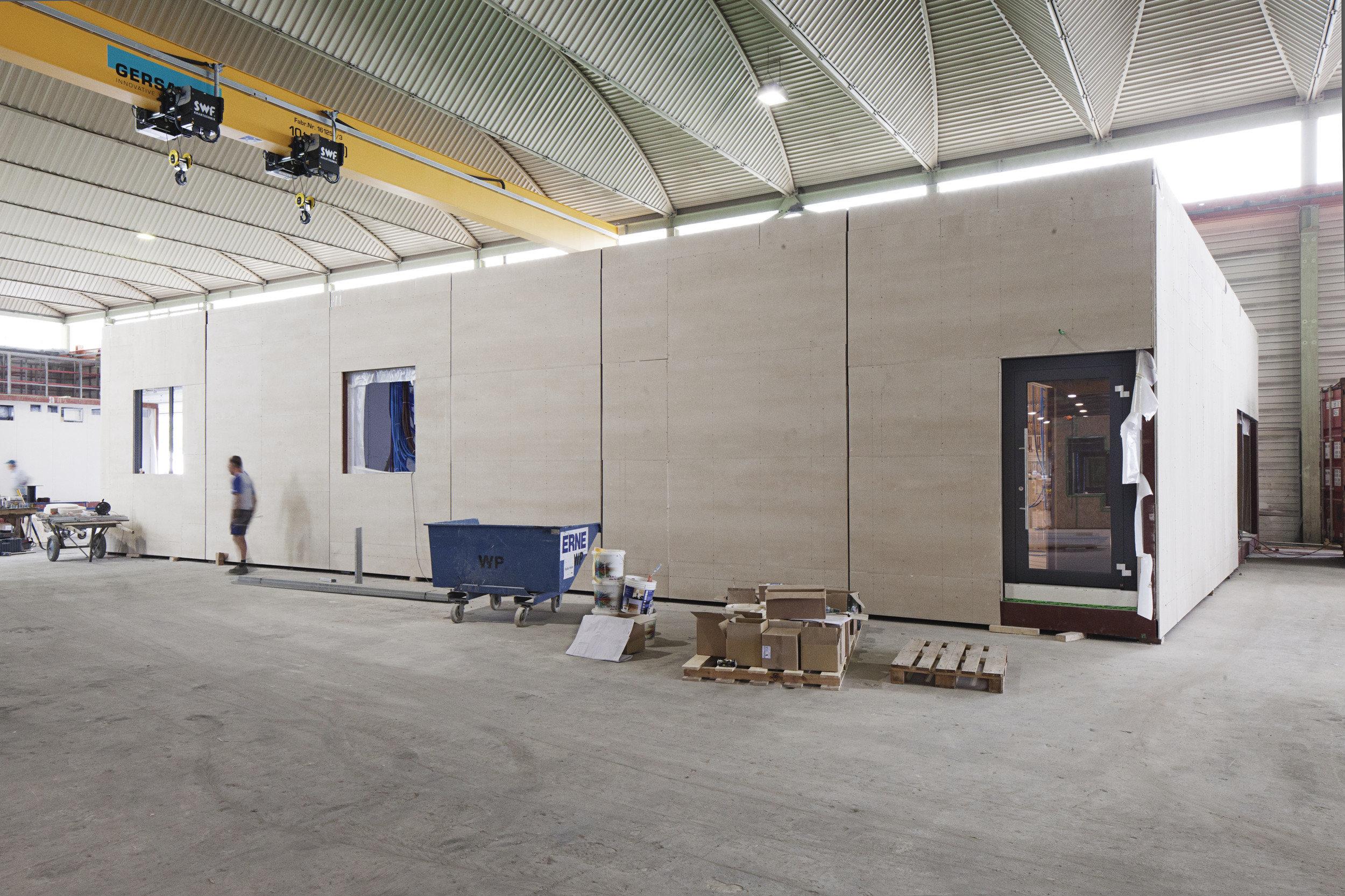 Holzmodul von Operationssälen im Bau