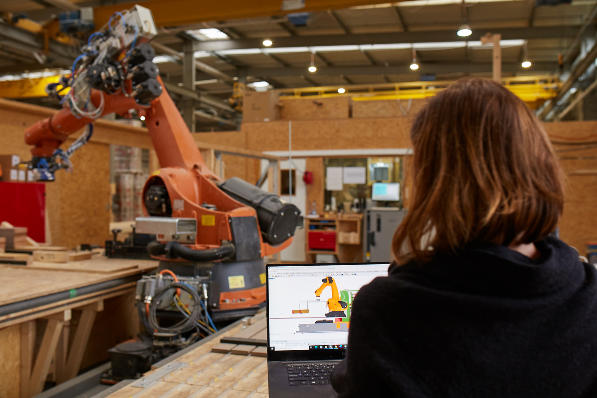 Steuerung der digitalen, robotischen Fertigung