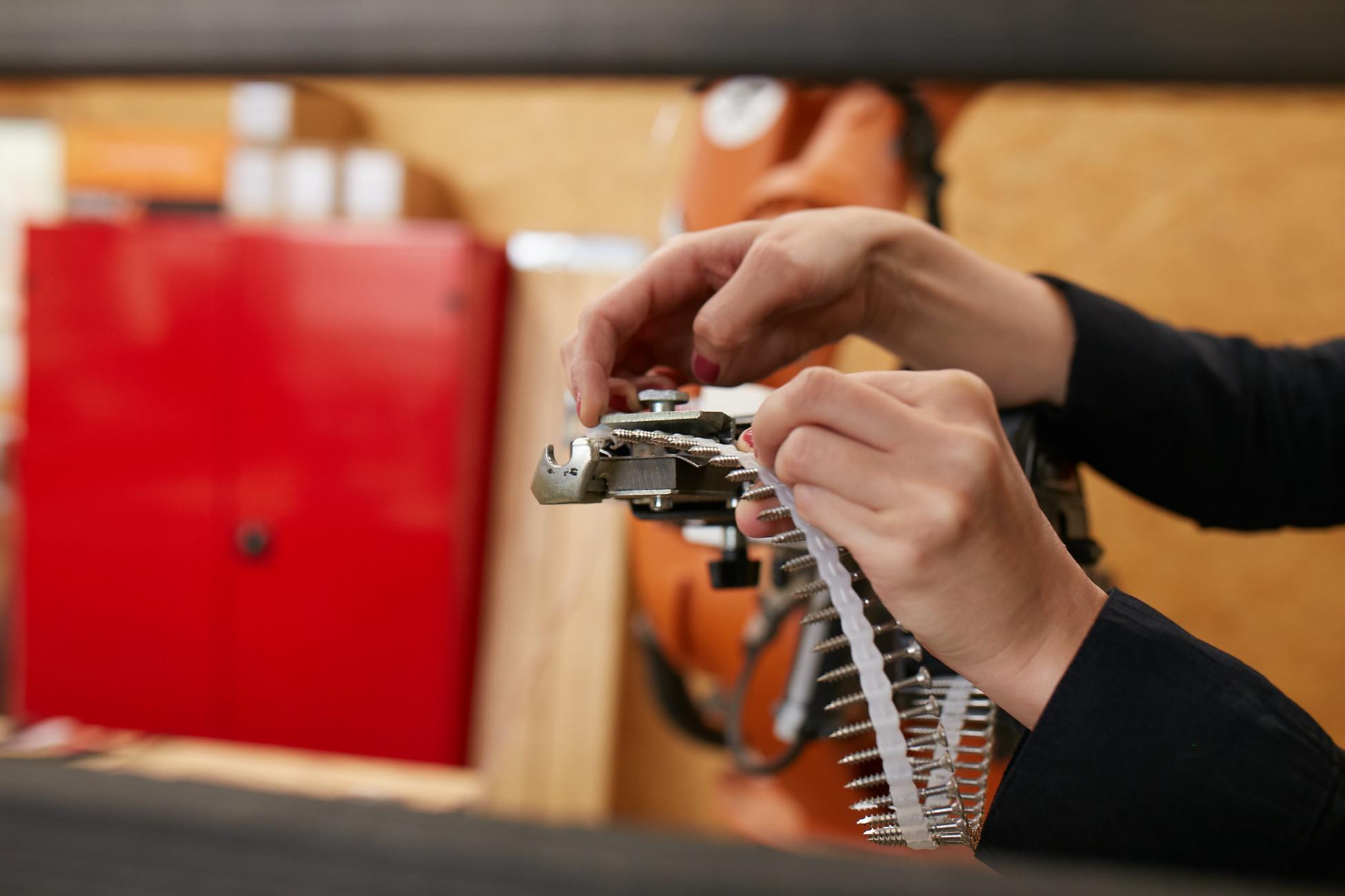 Anbringen der Werkzeuge am Roboter